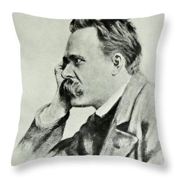 Friedrich Nietzsche, 1912 Throw Pillow