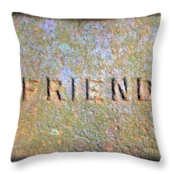 Throw Pillow featuring the photograph Friend by Janine Riley