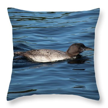 Friend Of The Lake. Throw Pillow