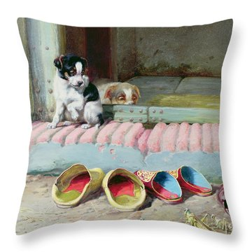 Friend Or Foe Throw Pillow by William Henry Hamilton Trood