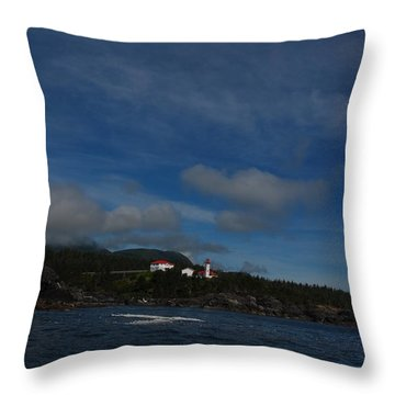 Friendly Cove From A Distance Throw Pillow