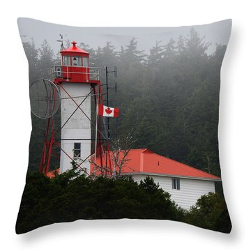 Photograph - Friendly Cove Lighthouse And Flag by Nootka Sound