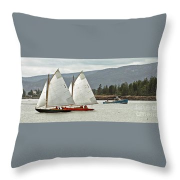 Friendly Sail Throw Pillow