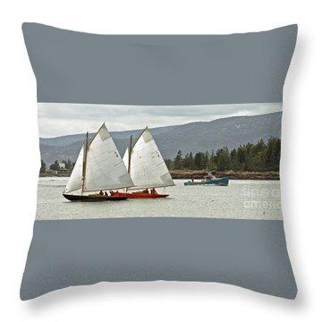 Friendly Sail Throw Pillow