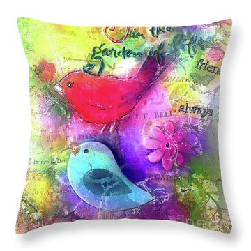 Friends Always Throw Pillow by Claire Bull