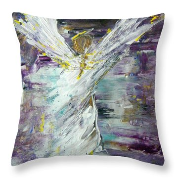 Friends Are Angels Throw Pillow