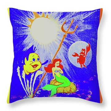 Friends Below The Sea Throw Pillow