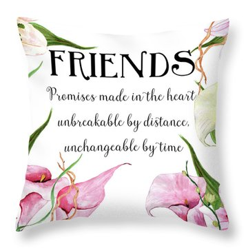 Throw Pillow featuring the digital art Friends by Colleen Taylor