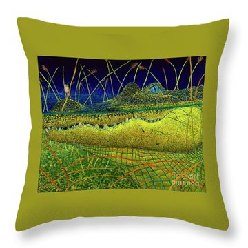 Swamp Gathering Throw Pillow by David Joyner