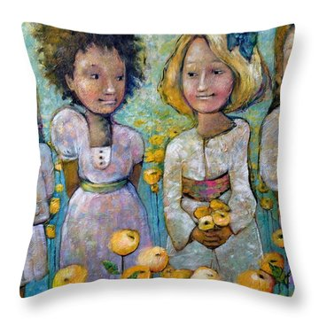 Friends Throw Pillow by Eleatta Diver