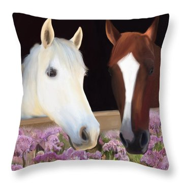 Friends Forever Throw Pillow by Julianne  Ososke