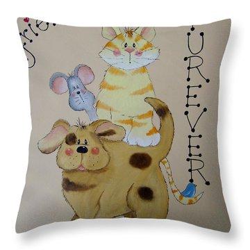 Friends Furever Throw Pillow