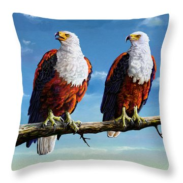 Friends Hanging Out Throw Pillow by Anthony Mwangi