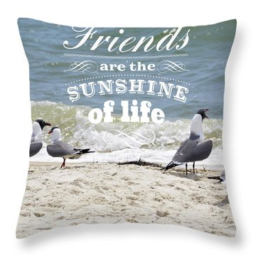 Throw Pillow featuring the photograph Friends In Life by Jan Amiss Photography