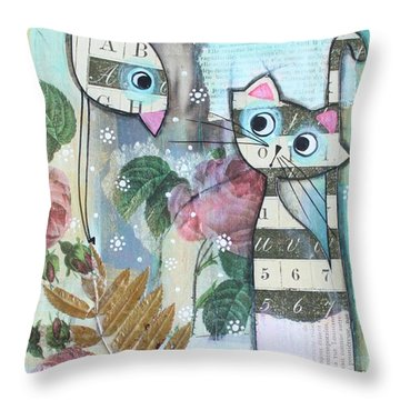 Friends Throw Pillow by Johanna Virtanen