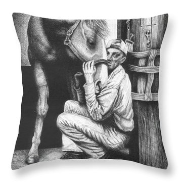 Friends Throw Pillow by Lawrence Tripoli