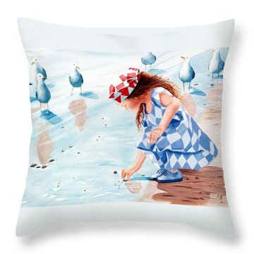 Friends - Prints From Original Oil Painting Throw Pillow