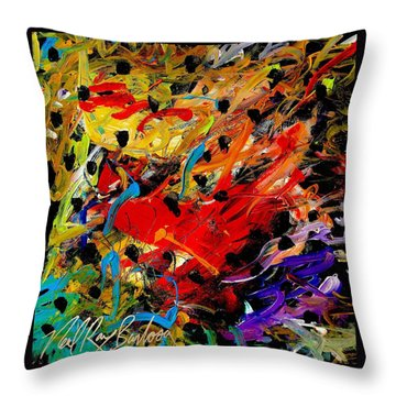 Friends Of The Praying Mantise Throw Pillow