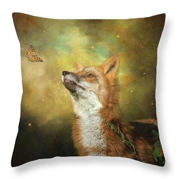 Friends On A Firefly Evening Throw Pillow