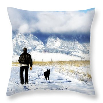 Friends On A Walk Throw Pillow