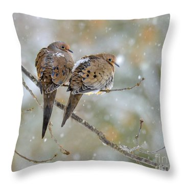 Friends Through The Storm Throw Pillow