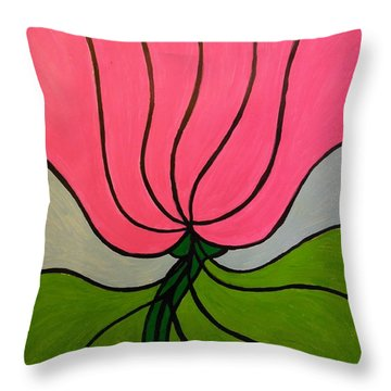Friendship Flower Throw Pillow
