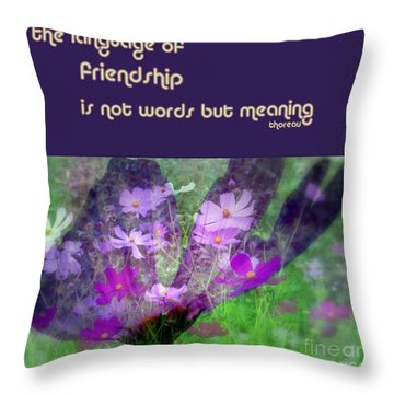 Throw Pillow featuring the photograph Friendship by Irma BACKELANT GALLERIES