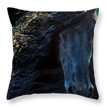 Friesian Glimmer Throw Pillow