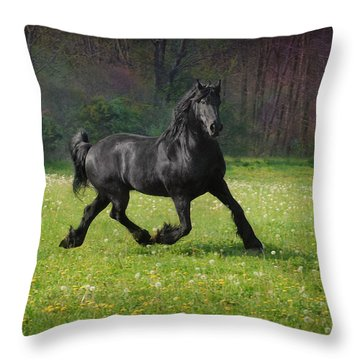 Friesian Power Throw Pillow