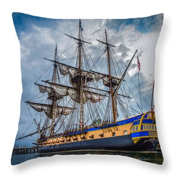 Frigate Hermione 01 Throw Pillow by Fred LeBlanc