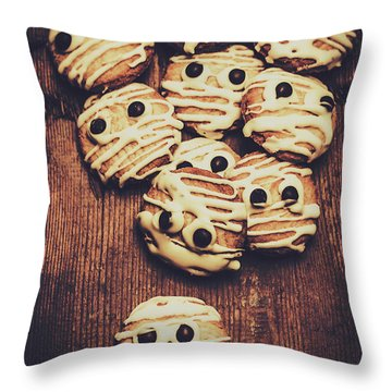 Fright Night Party Baking Throw Pillow