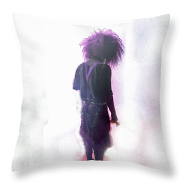Frightdome Clown Throw Pillow by Walter Chamberlain