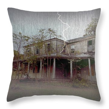 Frightening Lightning Throw Pillow by Brian Wallace