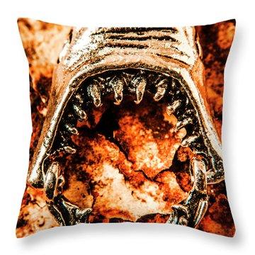 Frightening Marine Scene Throw Pillow