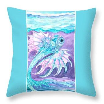 Frilled Fish Throw Pillow