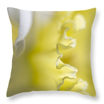 Throw Pillow featuring the painting Frills by Elena Nosyreva