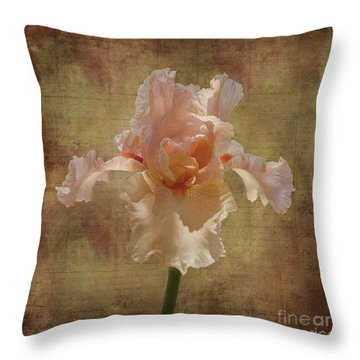 Frilly Iris Throw Pillow