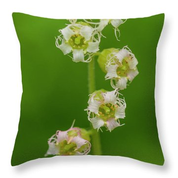 Fringed Cups Throw Pillow