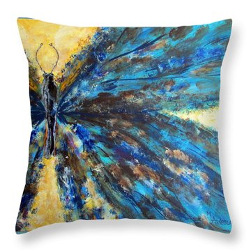 Fringed Throw Pillow by Mary Arneson