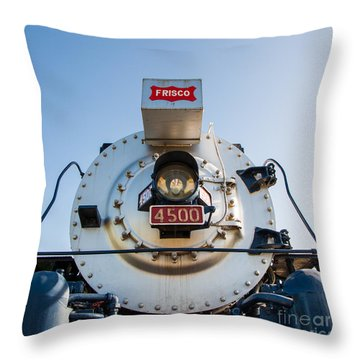 Frisco Meteor On Route 66 In Tulsa Oklahoma Throw Pillow