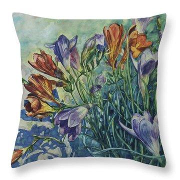 Frishias Throw Pillow by Rick Nederlof