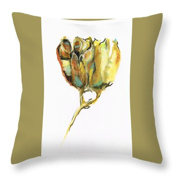 Throw Pillow featuring the painting Fritillaria by Frances Marino