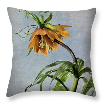 Frittelaria Imperialis Throw Pillow by Endre Balogh