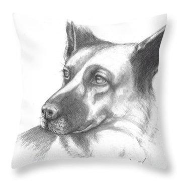 Fritz The German Shepherd Throw Pillow