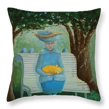 Frk Blund Throw Pillow