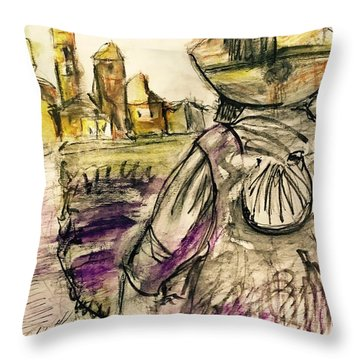 Fromista Espana Throw Pillow