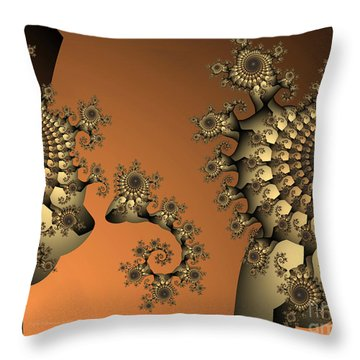 Throw Pillow featuring the digital art Frog King by Karin Kuhlmann