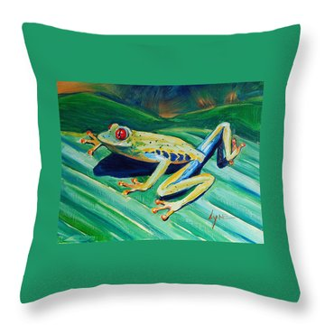 Frog Throw Pillow
