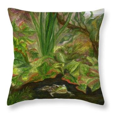 Frog Medicine Throw Pillow