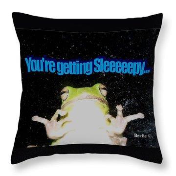 Frog  You're Getting Sleeeeeeepy Throw Pillow